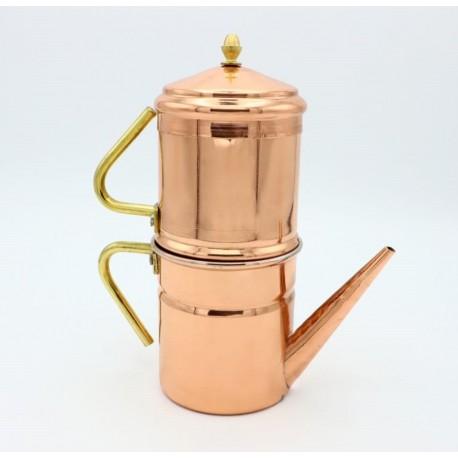 "Antica caffettiera Napoletana in rame ""cuccuma"""