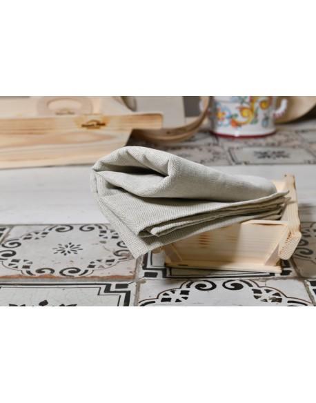 Telo per la lievitazione di impasti 100cm x 100cm 80%Lino e 20%Cotone